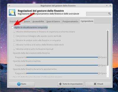 Xubuntu - disattivare il compositore